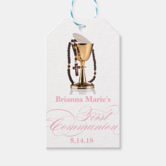 Elegant First Communion Party Favor Labels|Tags