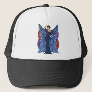 Elegant flapper deco ladies trucker hat