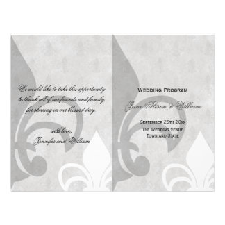 Elegant Fleur de Lis BiFold Wedding Program