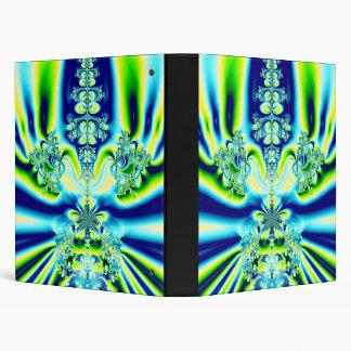 Elegant Fleur de Lis Fractal 3 Ring Binder