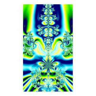 Elegant Fleur de Lis Fractal Business Card Templates