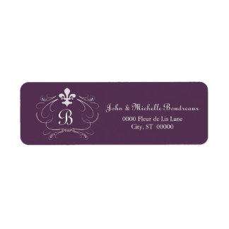 Elegant Fleur de Lis Monogram Label