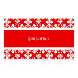 Elegant fleur de lys damask Christmas Business Card