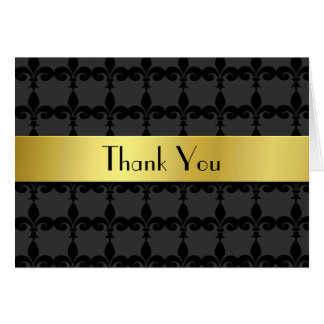 Elegant Fleur Di Lys Thank You Card