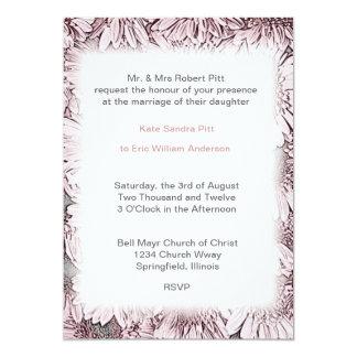 Elegant Flora Frame Formal Wedding Invitation l