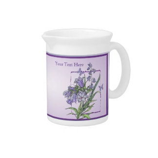 Elegant Floral and Butterfly 19 Ounce Pitcher
