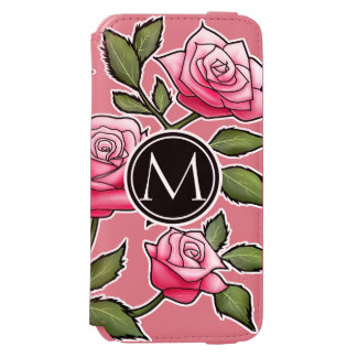 Elegant Floral and Monogram iPhone 6/6s Wallet Case