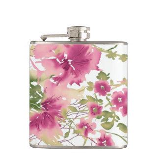 Elegant Floral Art Flask