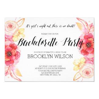 Elegant Floral Bachelorette Party Invitations