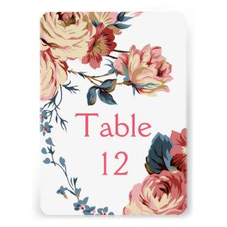 Elegant Floral Bloom Roses Table card
