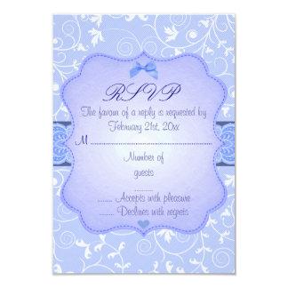 Elegant Floral Blue Sweet16 RSVP Card