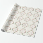 """Elegant Floral Blush Pink Peony Summer Wedding Wrapping Paper<br><div class=""""desc"""">Lovely pink and ivory floral wrapping paper with a beautiful diamond wreath of pretty blush and ivory peonies. This beautiful peony flower wedding gift wrap features the couple's names personalized in the design. Customize this cute wrapping paper for your friends on their special day or use this as a bride...</div>"""