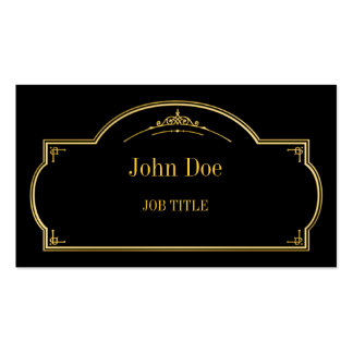 Elegant floral borders gold business card templates