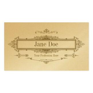 Elegant floral borders, premium gold Double-Sided standard business cards (Pack of 100)