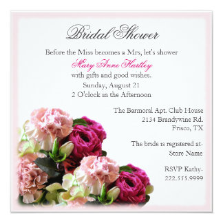 Elegant Floral Bouquet Bridal Shower Invitation