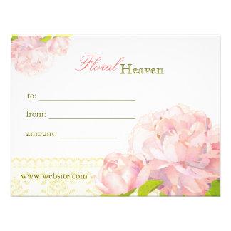Elegant Floral Business Gift Certificates Invite