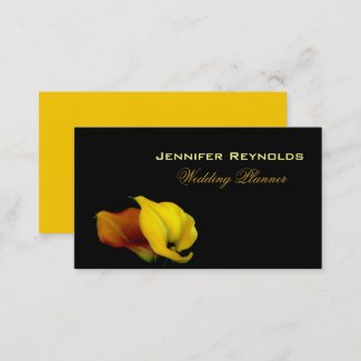 Elegant Floral Calla Lily  Business Card