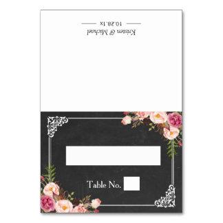 Elegant Floral Chalkboard Wedding Seating Place Card