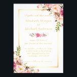 "Elegant Floral Chic Gold White Formal Wedding Invitation<br><div class=""desc"">Elegant Floral Chic Gold White Formal Wedding Invites. (1) For further customization, please click the &quot;customize further&quot; link and use our design tool to modify this template. (2) If you need help or matching items, please contact me. (3) You can find matching products (e.g. Invites, RSVP card, Reception Card, Thank...</div>"