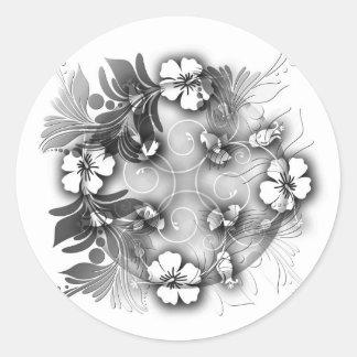 Elegant Floral Classic Round Sticker