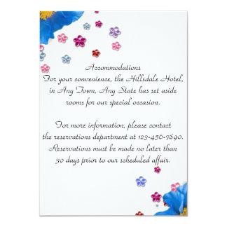Elegant Floral Classy Wedding Insert Personalized Card