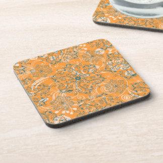 Elegant Floral Beverage Coaster