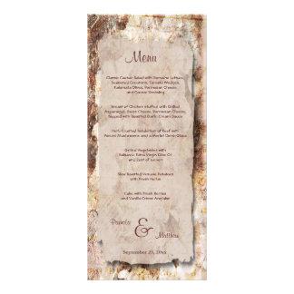Elegant Floral Customizable Wedding Menu Card