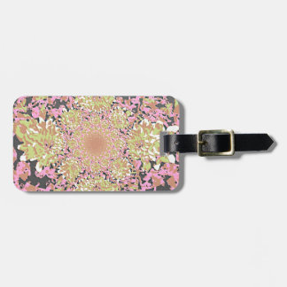 Elegant  Floral Dahlia Flower Pattern Luggage Tag