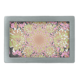 Elegant  Floral Dahlia Flower Pattern Rectangular Belt Buckle