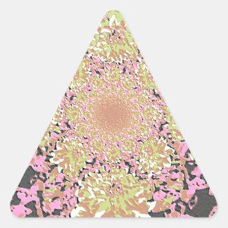Elegant  Floral Dahlia Flower Pattern Triangle Sticker