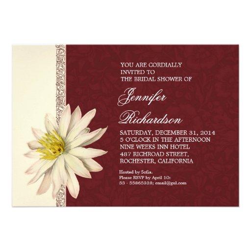 elegant floral damask bridal shower invitations