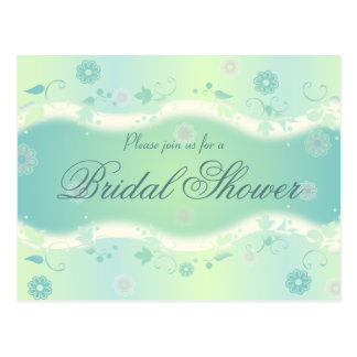 Elegant Floral Design Bridal Shower Invitation PC Postcard