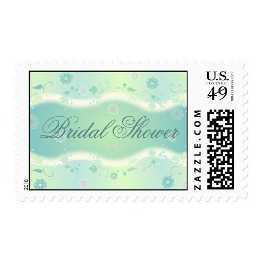 Elegant Floral Design Bridal Shower Postage G