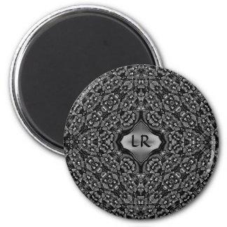 Elegant floral design for your initials magnet