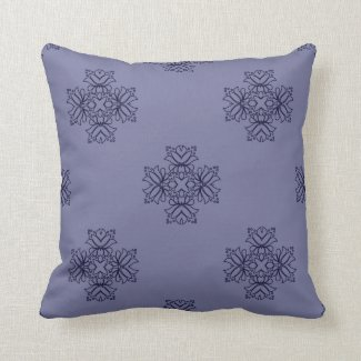 Elegant Floral Design in Blue or Any Color Throw Pillows