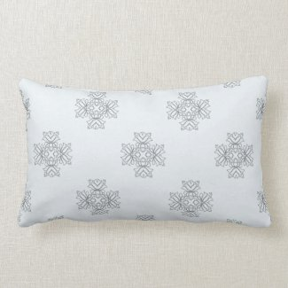 Elegant Floral Design in Gray or Any Color Pillows
