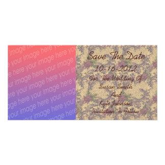 Elegant Floral Design Photo Wedding Save The Date Card