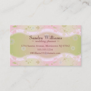 Hair dressing business cards zazzle elegant floral design pink custom business card reheart Image collections