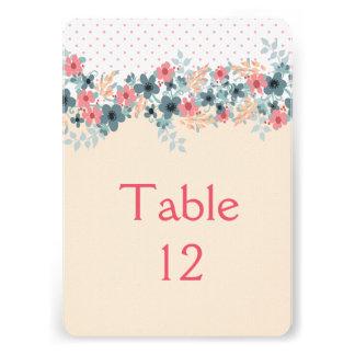 Elegant Floral Dream Table card