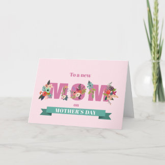 Elegant Floral First Mother's Day Card