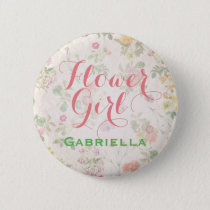 Elegant Floral Flower Girl Pin Reception | Shower