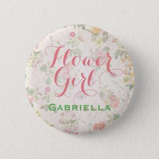 Elegant Floral Flower Girl Pin Reception   Shower