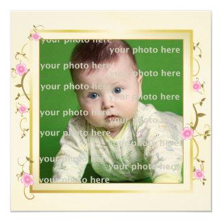 Elegant Floral Frame Card