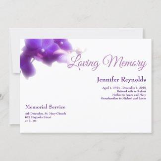 Elegant Floral Funeral Memorial Photo Announcement