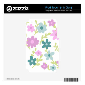 Elegant floral garden decals for iPod touch 4G