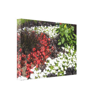 Elegant Floral Garden Stretched Canvas Print