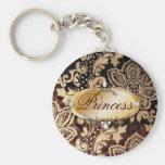 elegant floral girly vintage paris fashion keychain