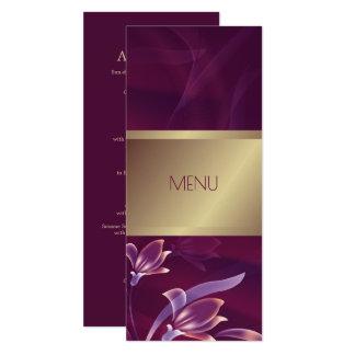 Elegant Floral | Gold Design Custom Menu Cards