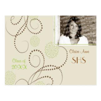 Elegant Floral Grad card