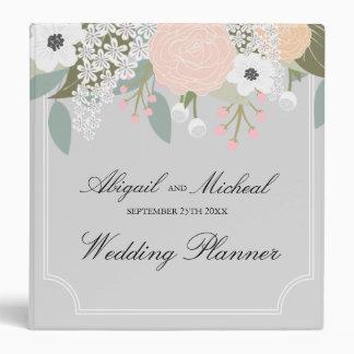 Elegant Floral -Gray- wedding planner binder